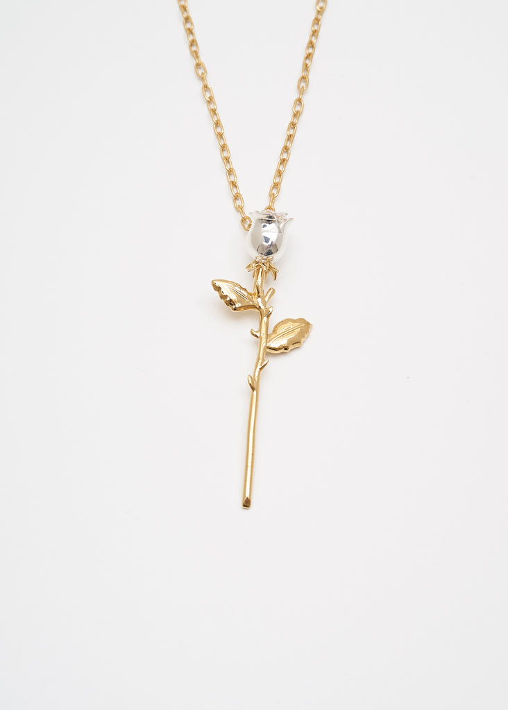 Gold Rose Charm Necklace