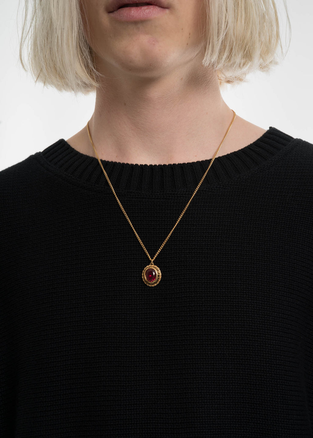 Gold and Red Class Pendent