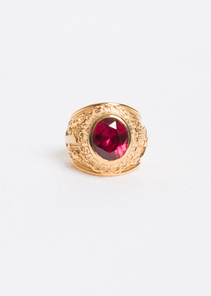 Gold and Red Class Ring