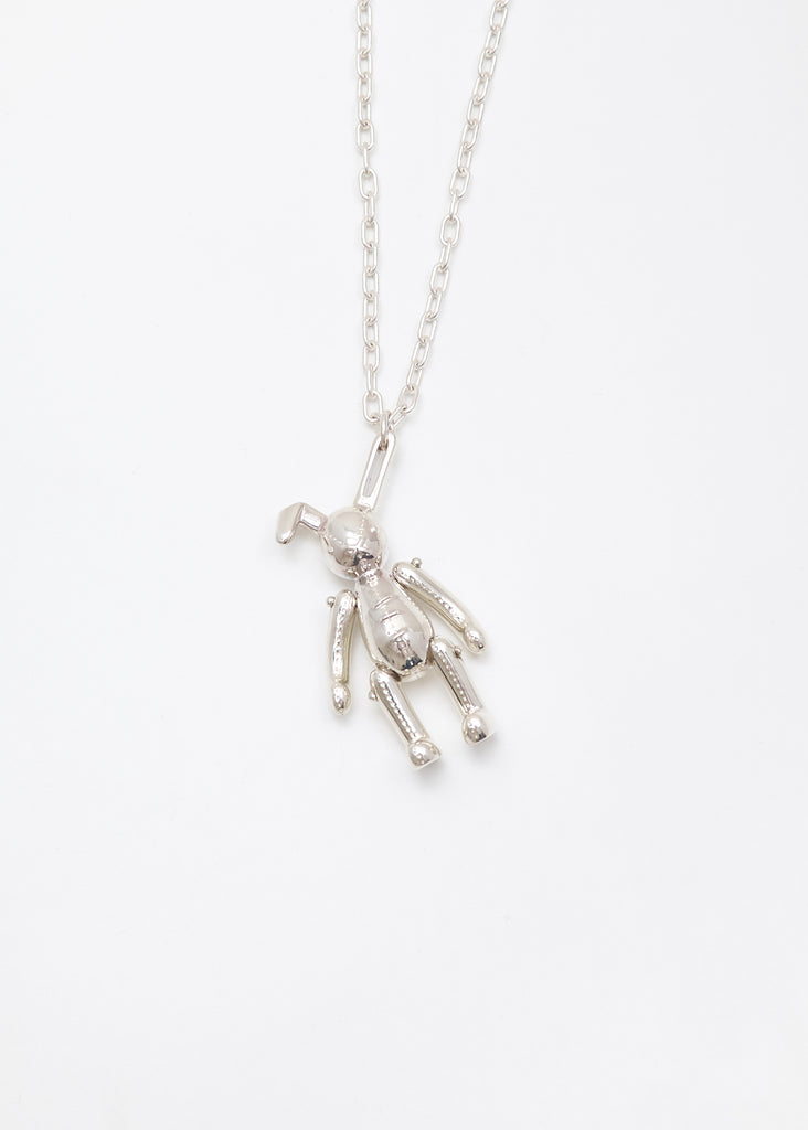 Silver Bunny Charm Necklace