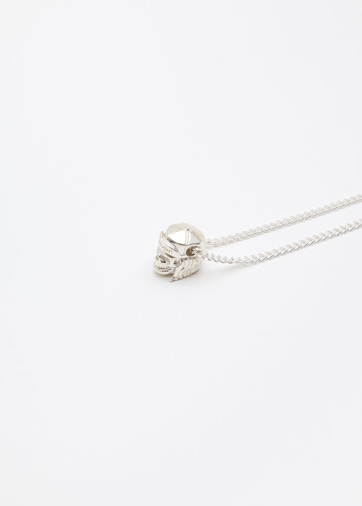 Silver Nobo Skull Charm Necklace