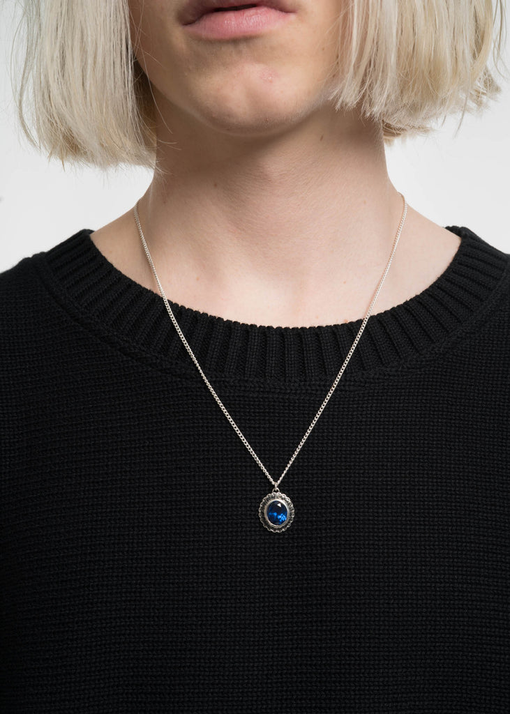 Silver and Blue Class Pendent