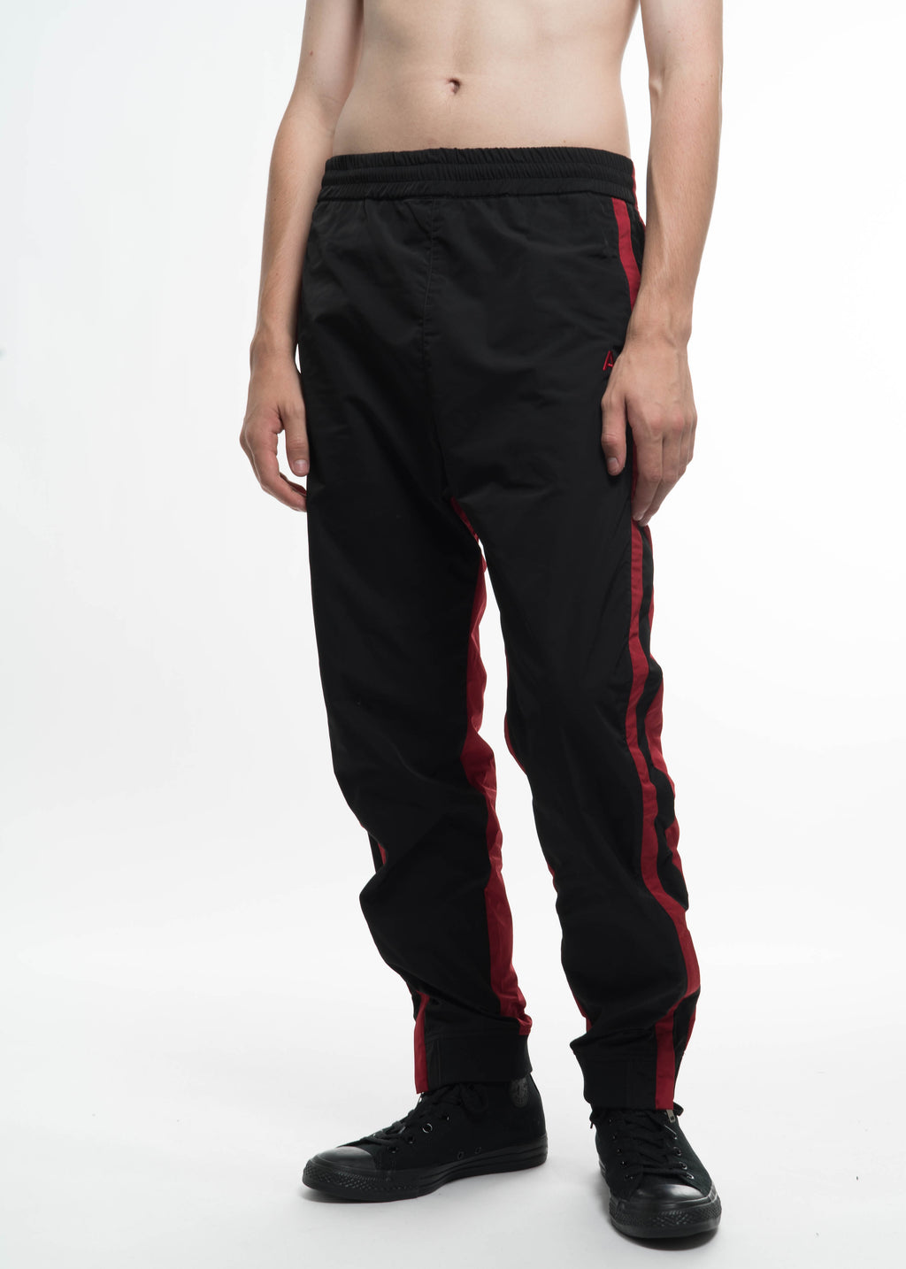 Ambush, Black & Red Track Pants, 017 Shop