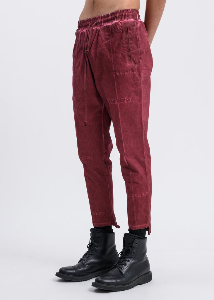 Rust Multi Logo Cropped Pants