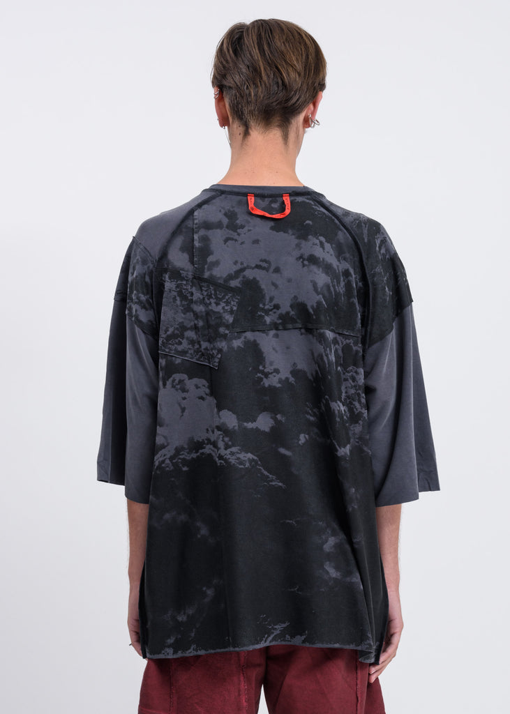 Grey Black Clouds Oversized T-Shirt