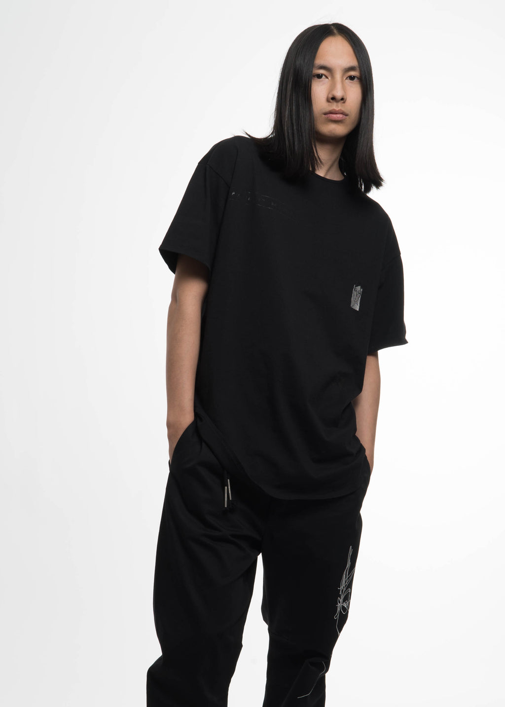 "Black Baggy ""Small Face"" T-Shirt"
