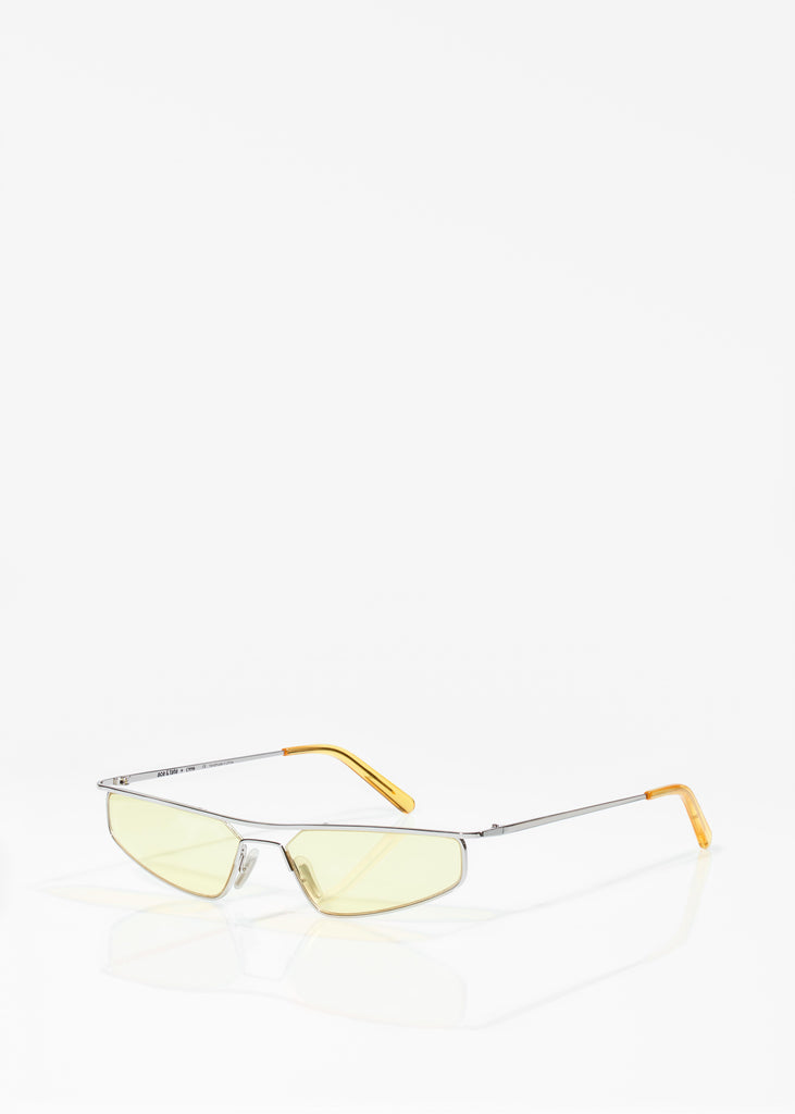 Silver and Yellow Neo Sunglasses