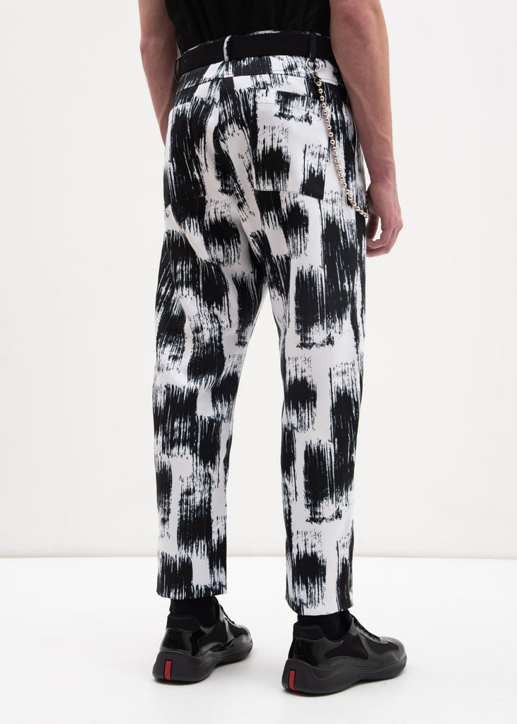 Printed Trouser w/ Chain