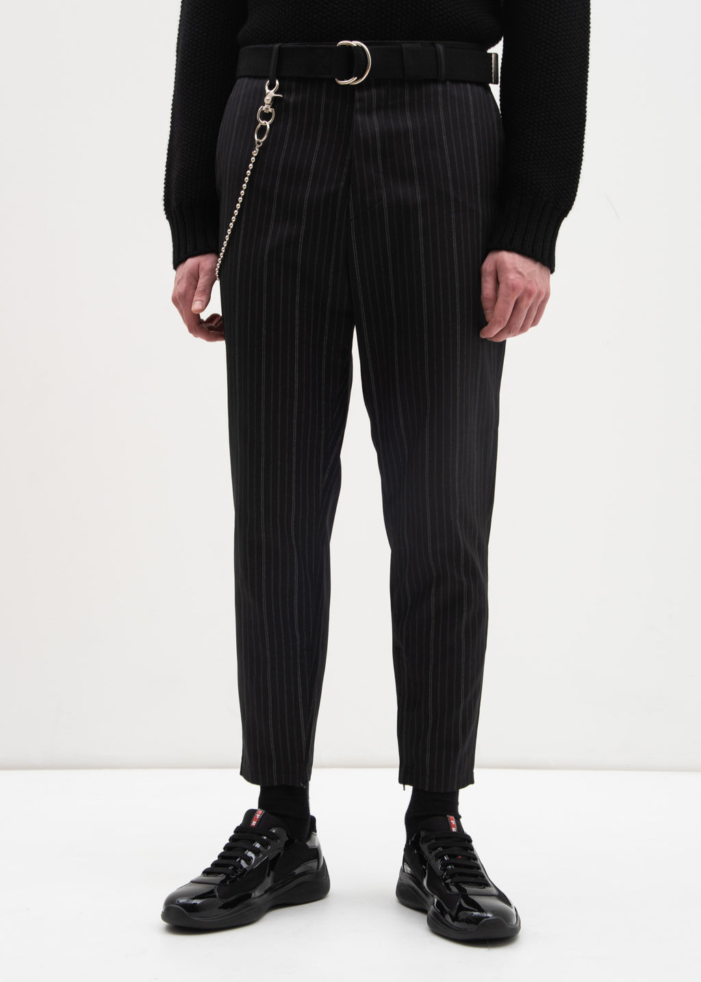 Stripe Trouser w/ Chain