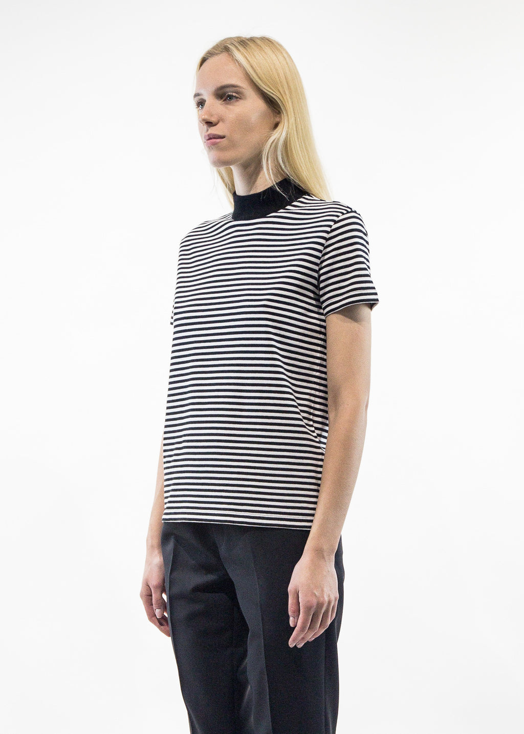 Tiphaine Black Striped Tee-Shirt