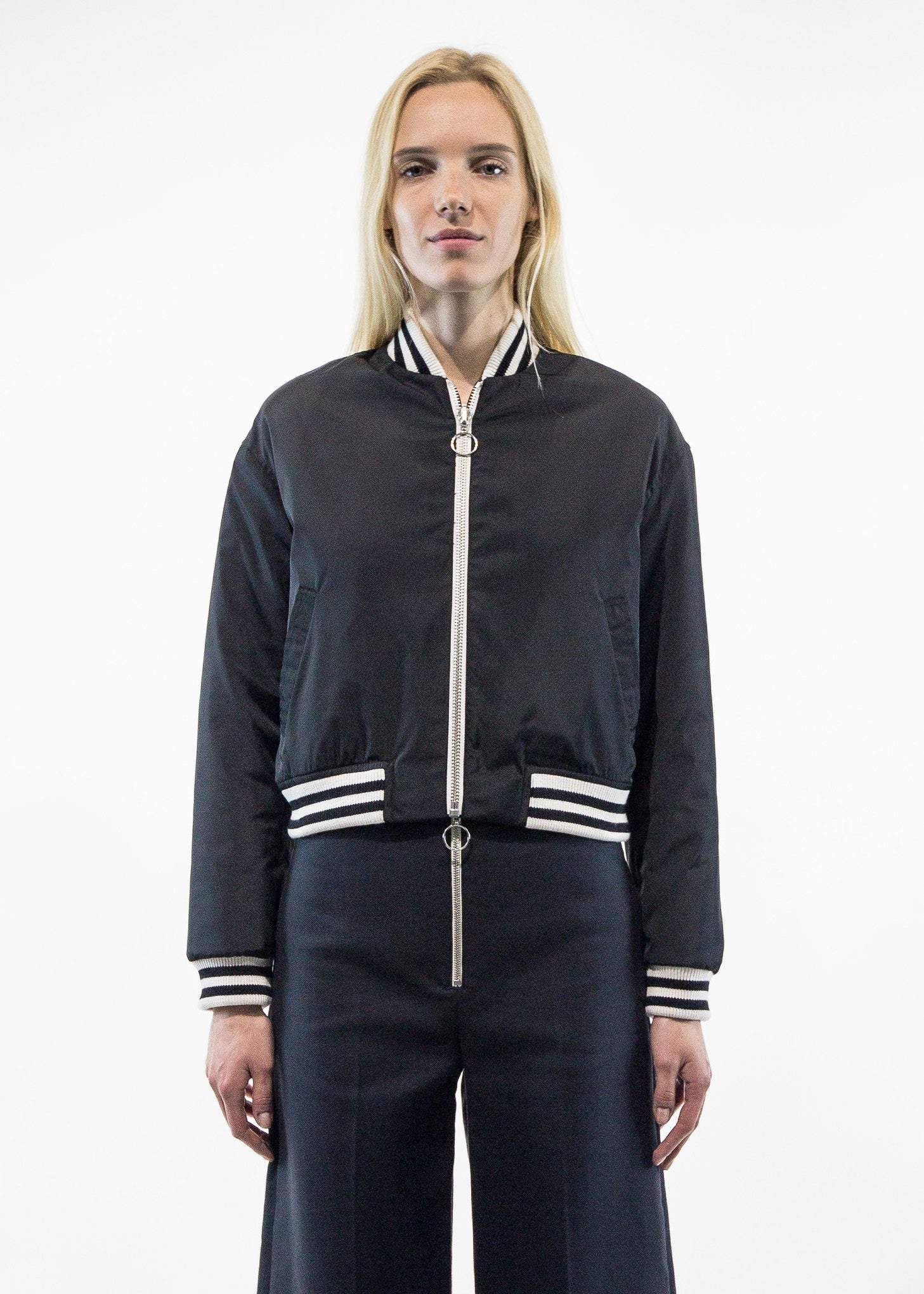 Melodie Constrast Bomber Jacket