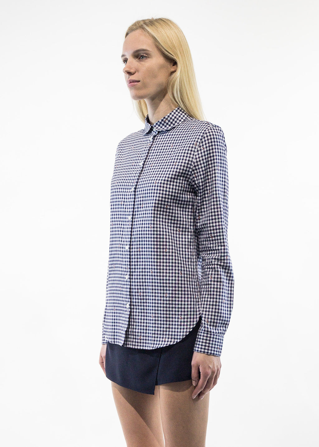 Jacquard Fox Baby Collar Shirt