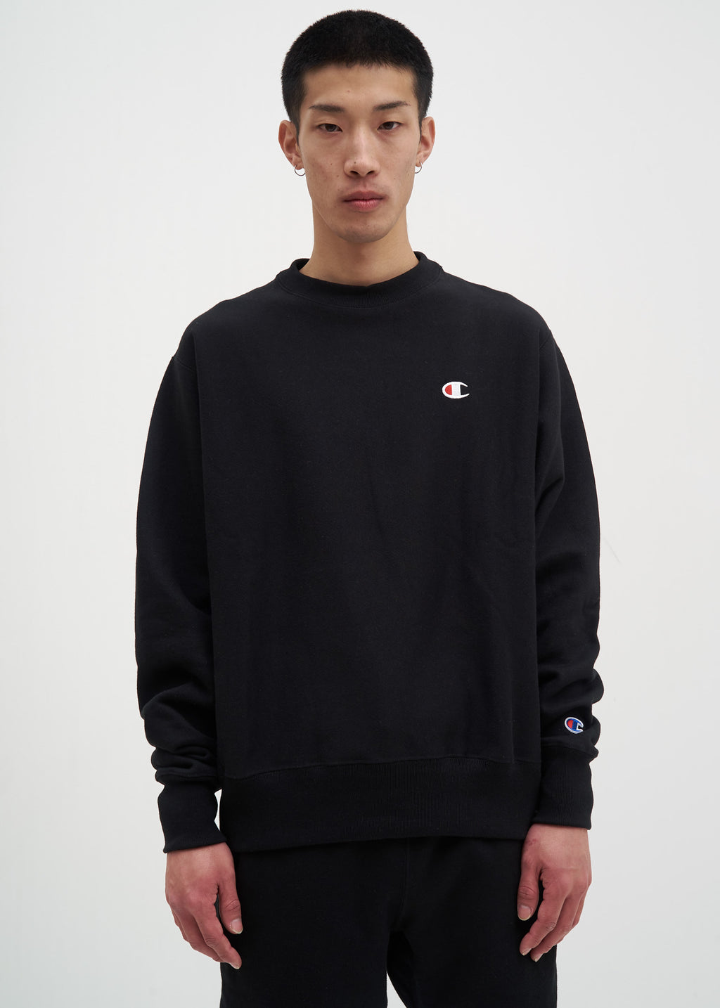 "Black Left Chest ""C"" Logo Sweatshirt"