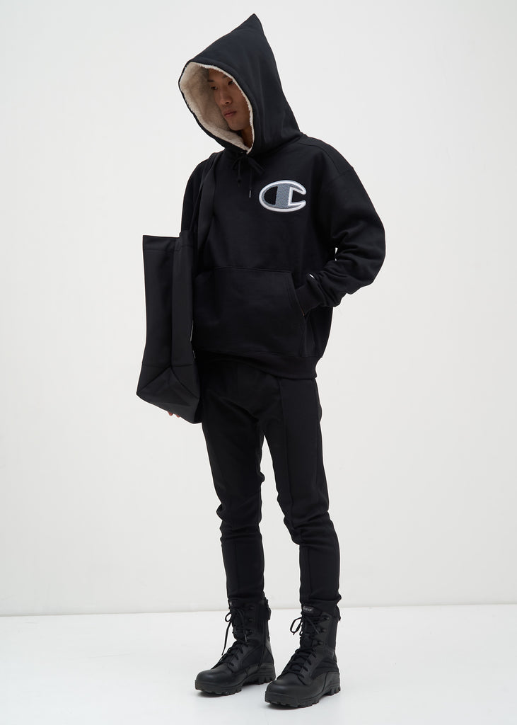 Champion Reverse Weave, Black Sherpa Lined Hoodie, 017 Shop