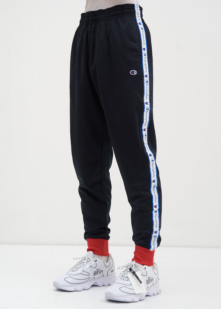 Black and Scarlet Track Pant