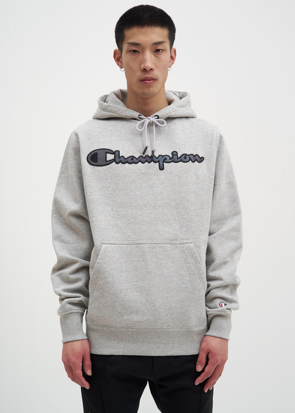 Champion Reverse Weave, Grey Rainbow Logo Hoodie, 017 Shop