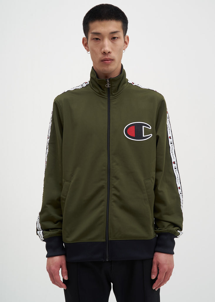 Champion Reverse Weave, Hiker Green Track Jacket, 017 Shop