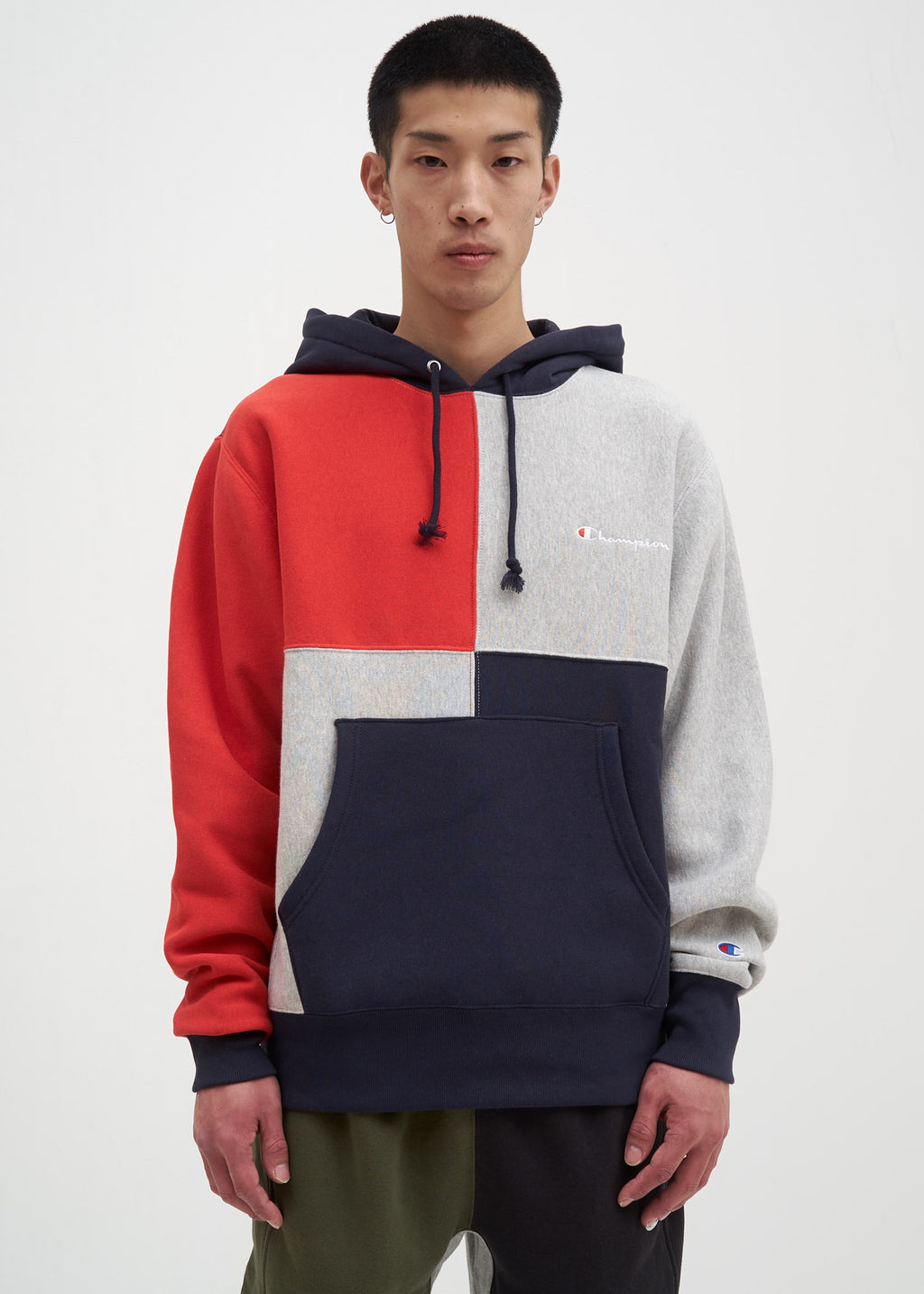 df4b4444f06b Navy Color Block Hoodie