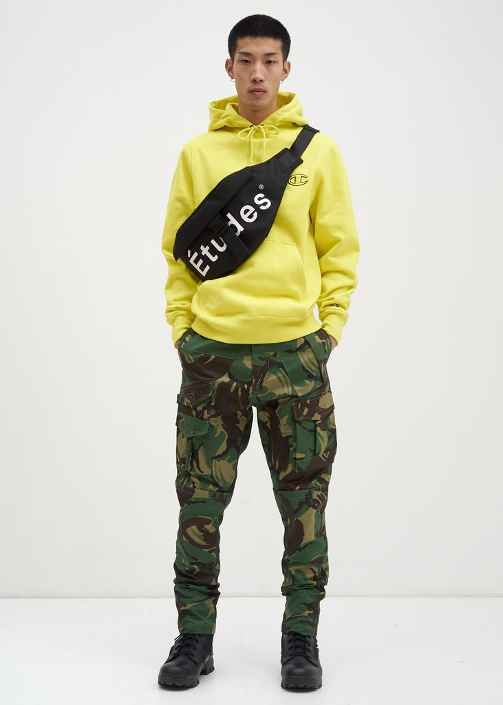 "Neon Yellow Embroidery ""C"" Hoodie"