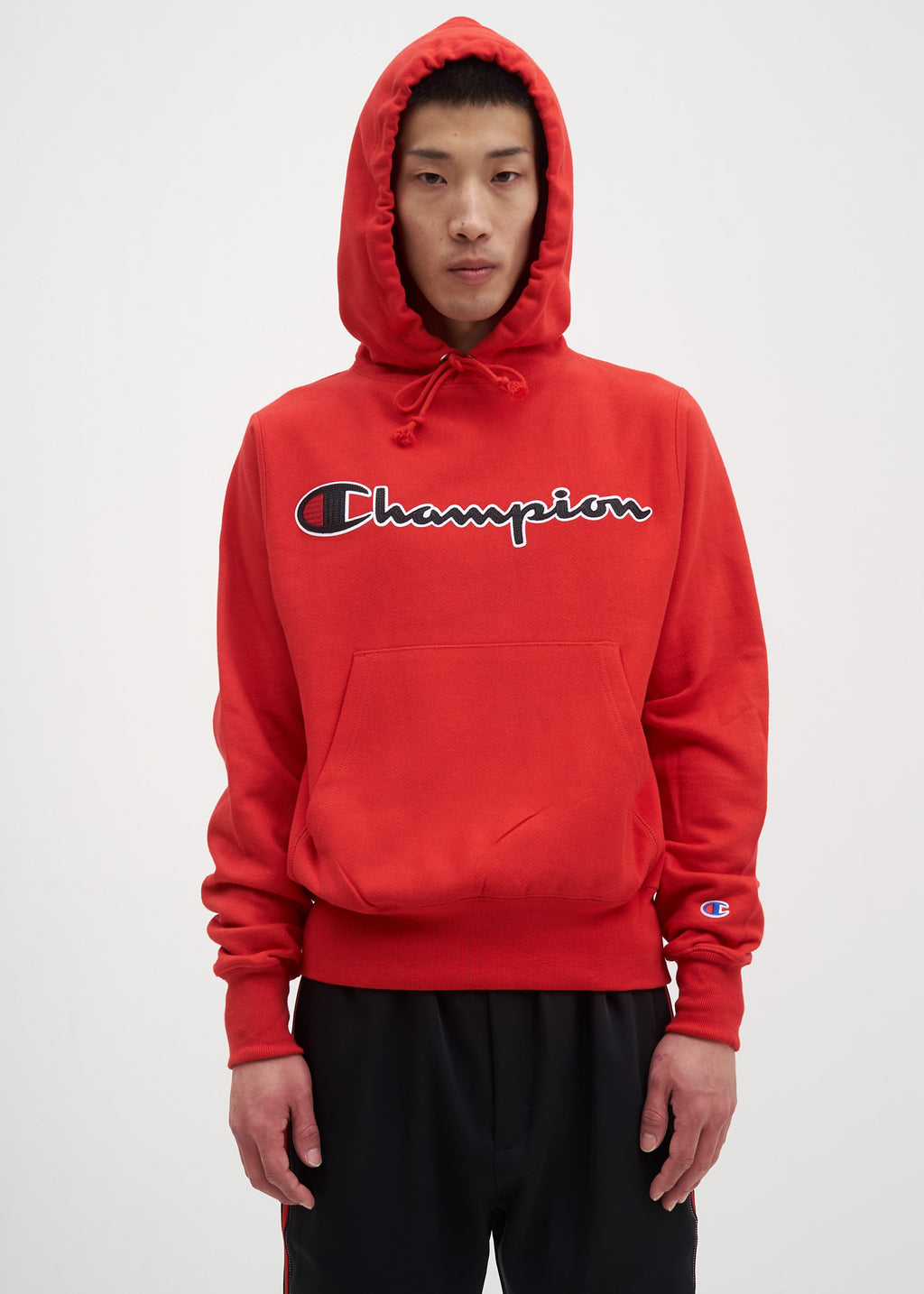 bde659182107 Red Scarlet Chainstitch Logo Hoodie
