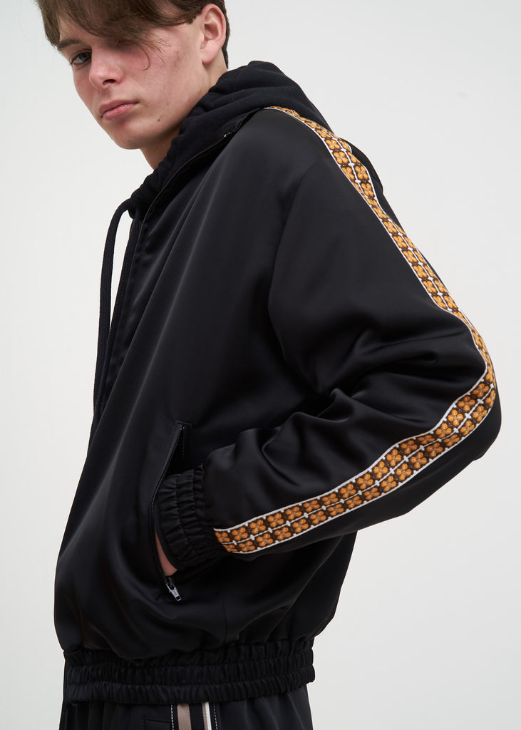 Black Bret Track Jacket