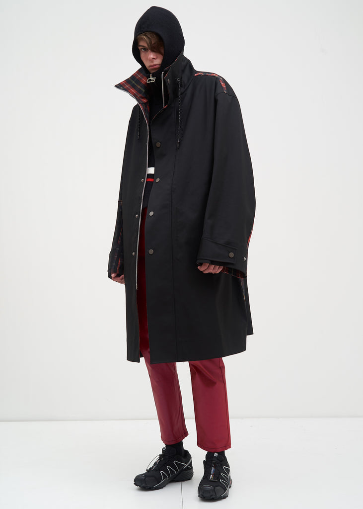 Black Ivan Oversized Car Coat