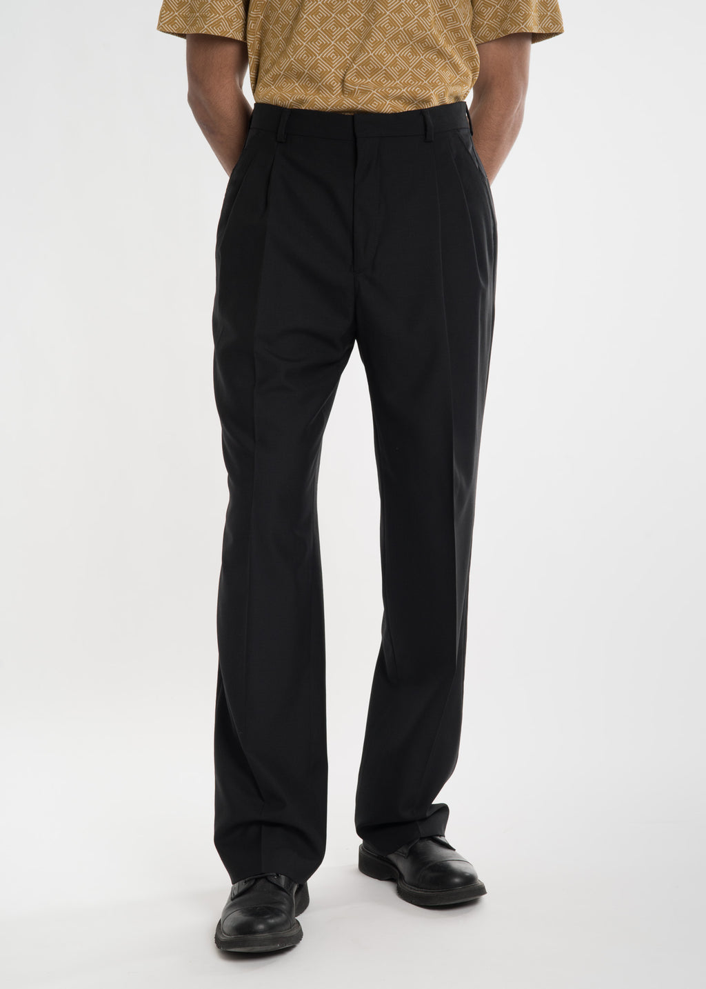 Cmmn Swdn, Black Jay Pleated Trousers, 017 Shop