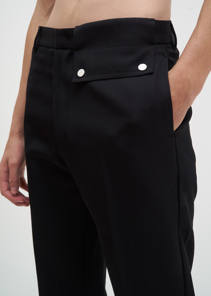 Cmmn Swdn, Black Stenson Trousers, 017 Shop