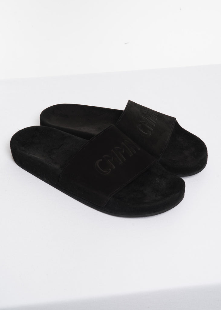 Cmmn Swdn, Black Suede Slider, 017 Shop