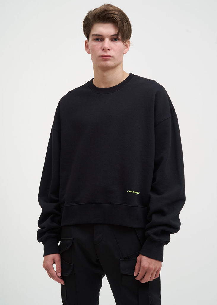 Cmmn Swdn, Black Tron Embroidery Sweatshirt, 017 Shop