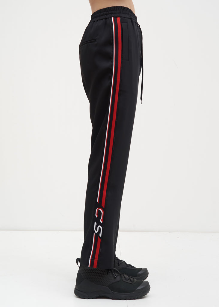 Cmmn Swdn, Black and Red Buck Satin Trackpants, 017 Shop