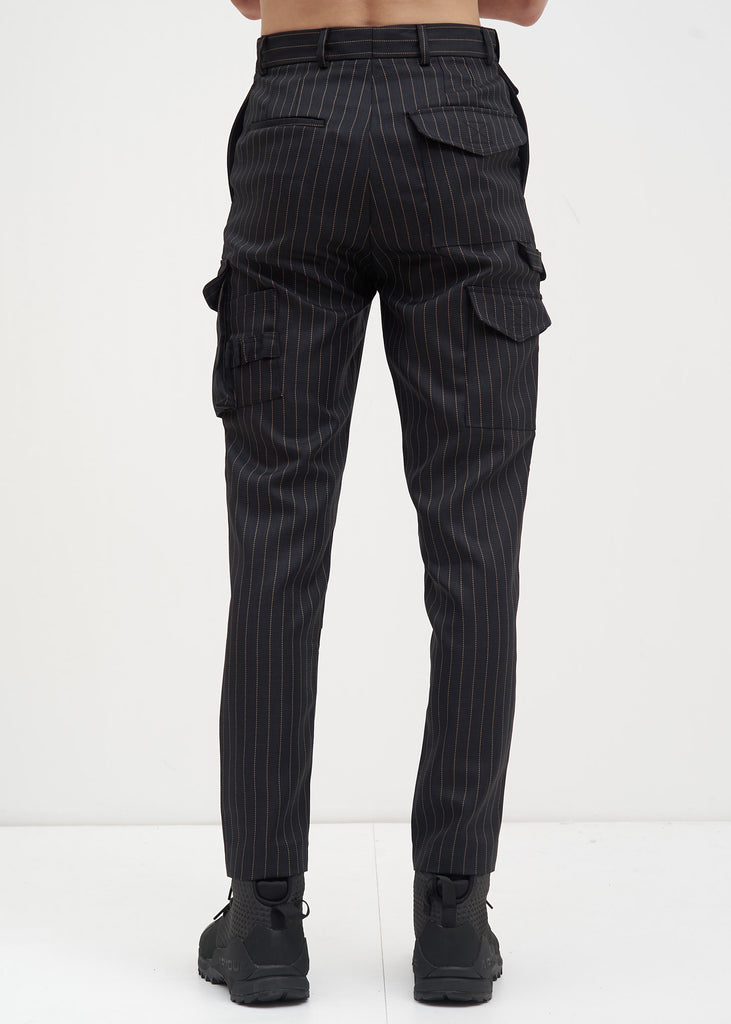 Brown Pinstripe Storm Trouser