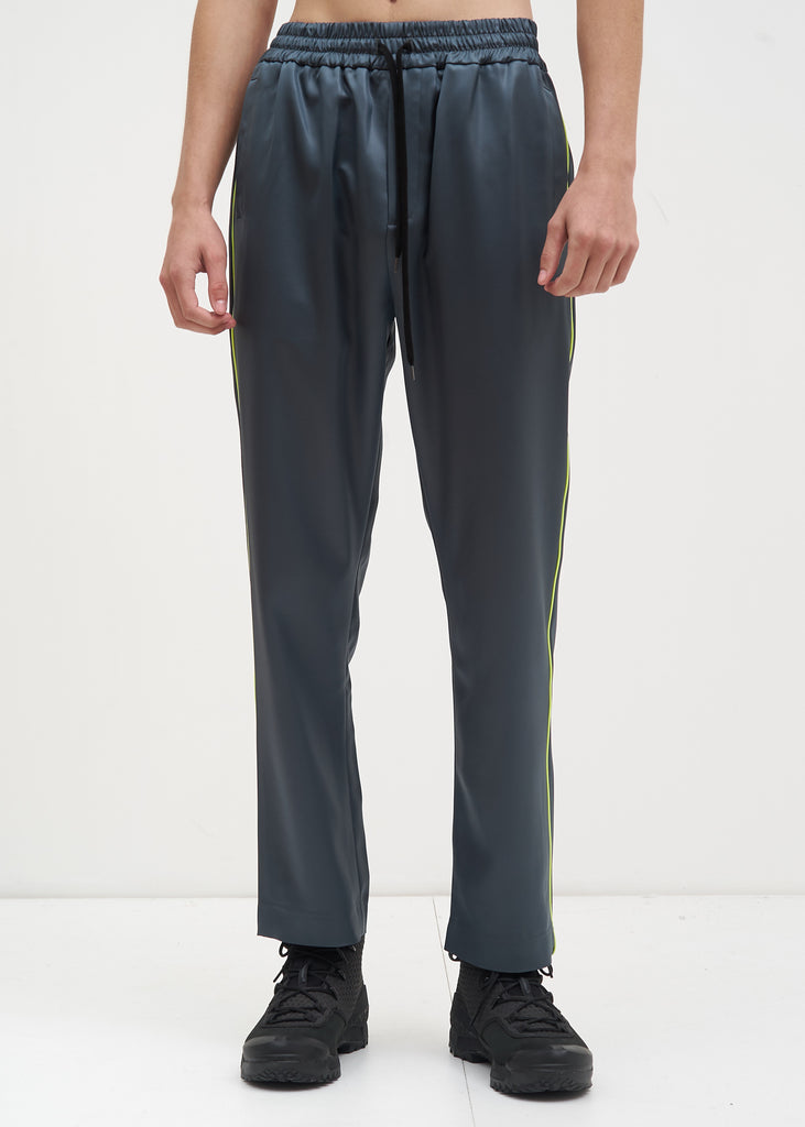 Grey Buck Satin Trackpants