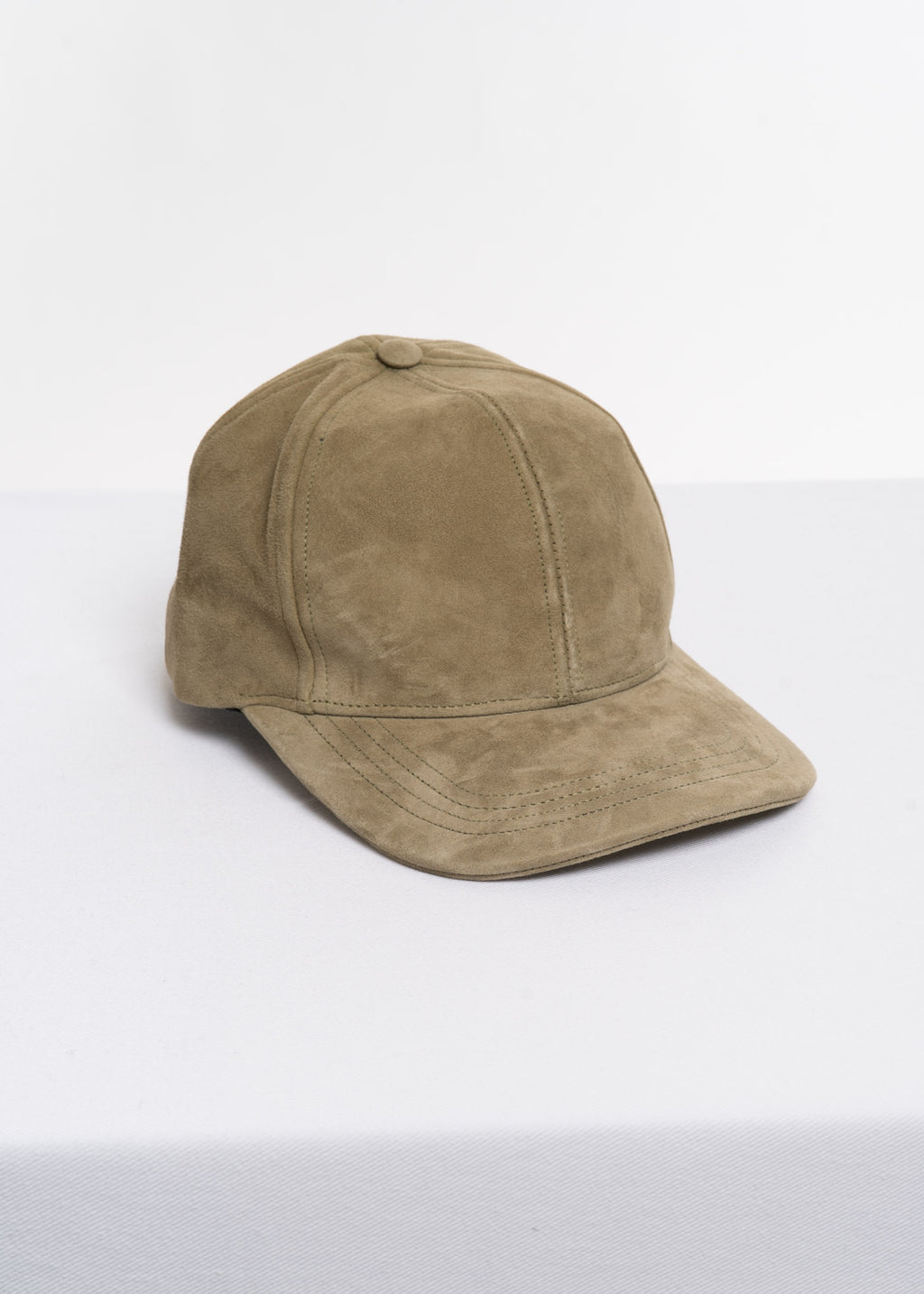 Moss Green Cadi Leather Cap