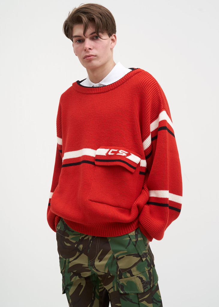 Red Tomek Knit Sweater