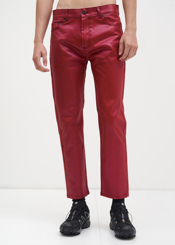 Red Waxed Jaxon Jeans