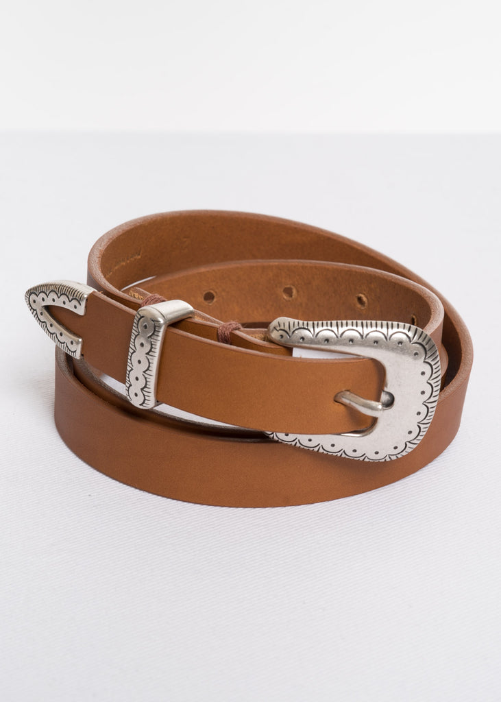 Tan Glock Western Leather Belt