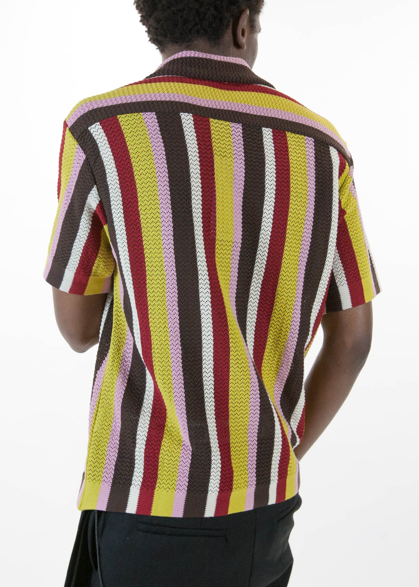 Wes Knitted Striped Shirt