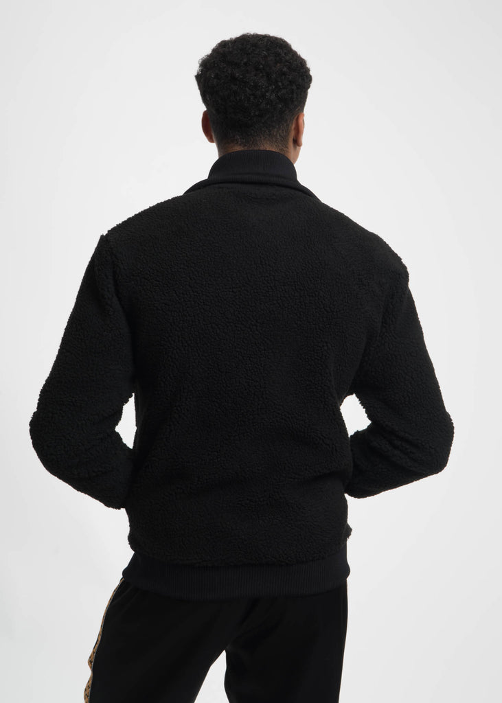 Black Terry Knitted Sweater