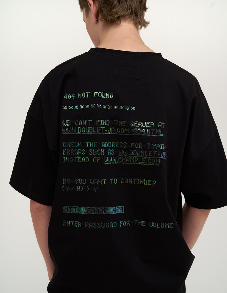 "Black ""404"" Spangle T-Shirt"