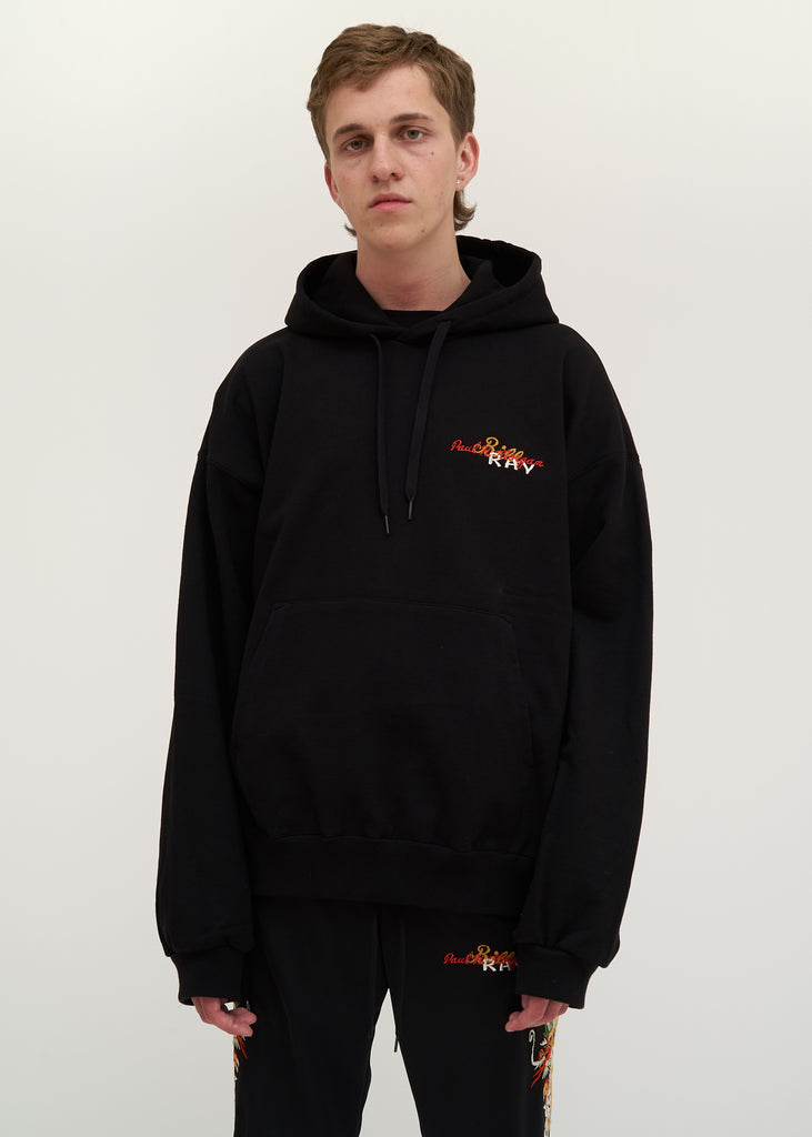 Black Chaos Embroidery Hoodie