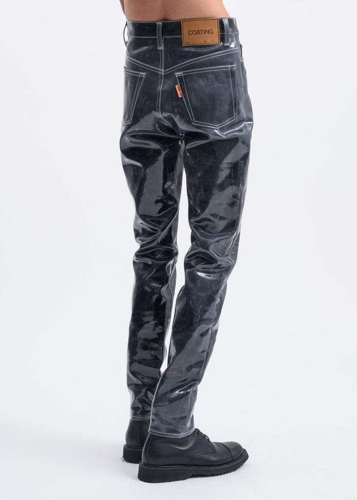 Black Coating Denim Pants
