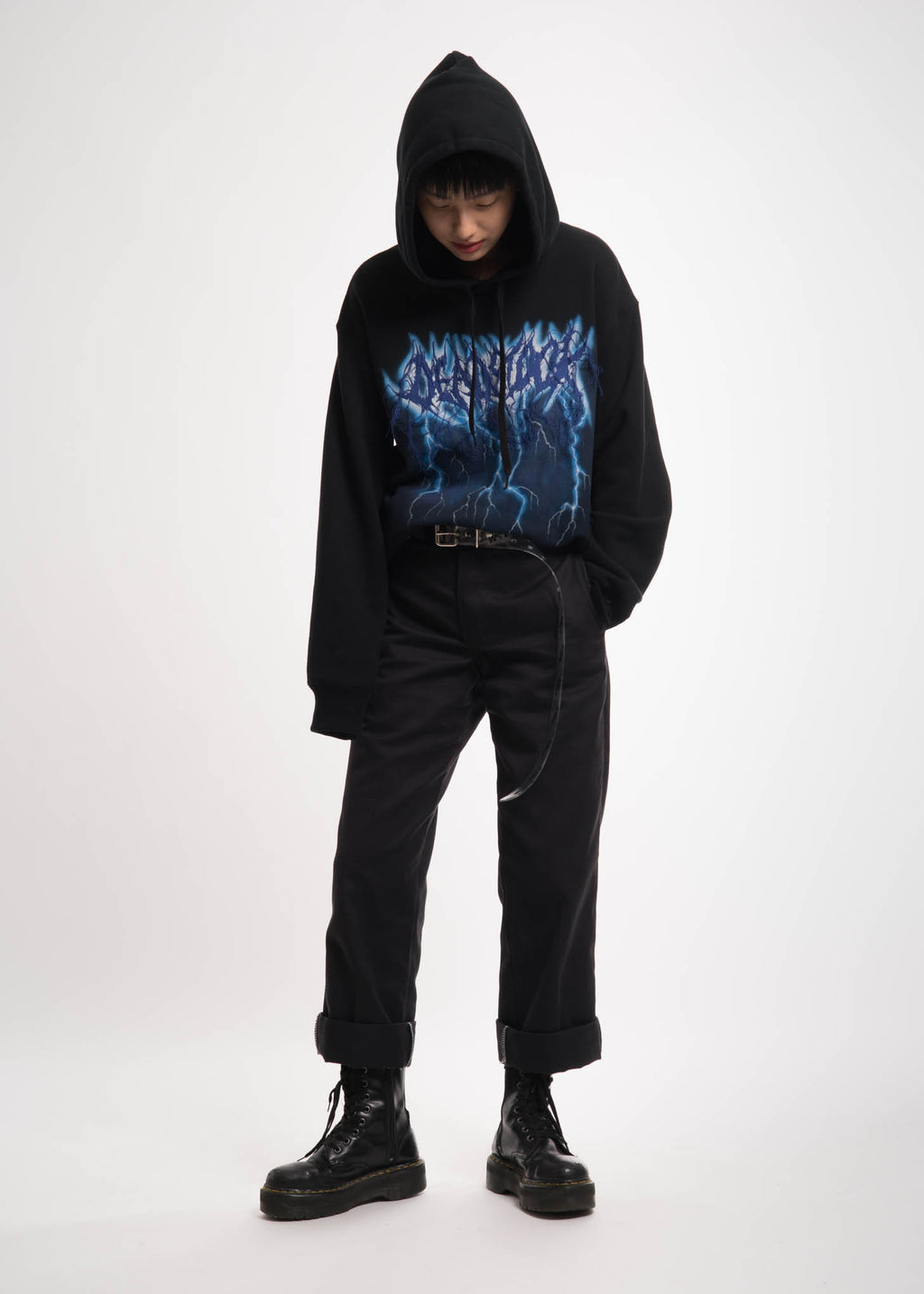 Doublet, Black Deadstock Embroidery Hoodie, 017 Shop