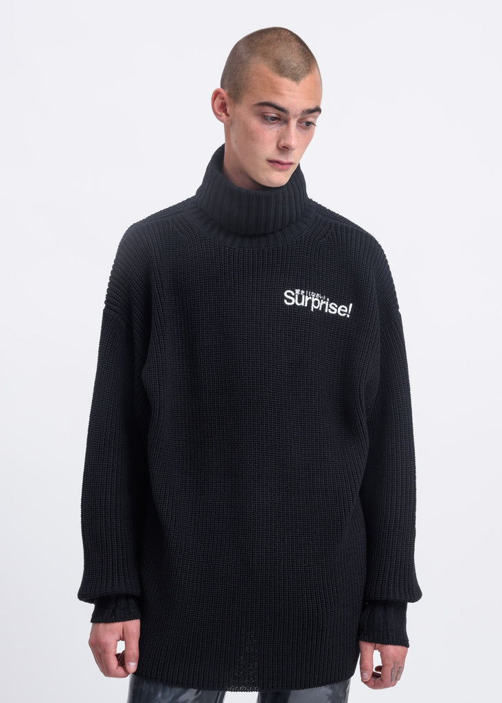 Black Disguise Turtle Neck Sweater