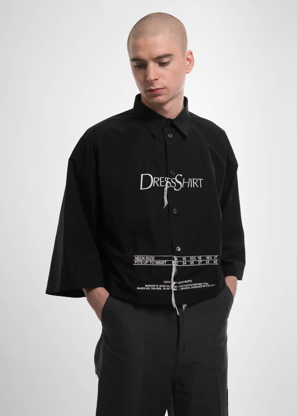 "Black ""Dress Shirt"" Embroidery Shirt"