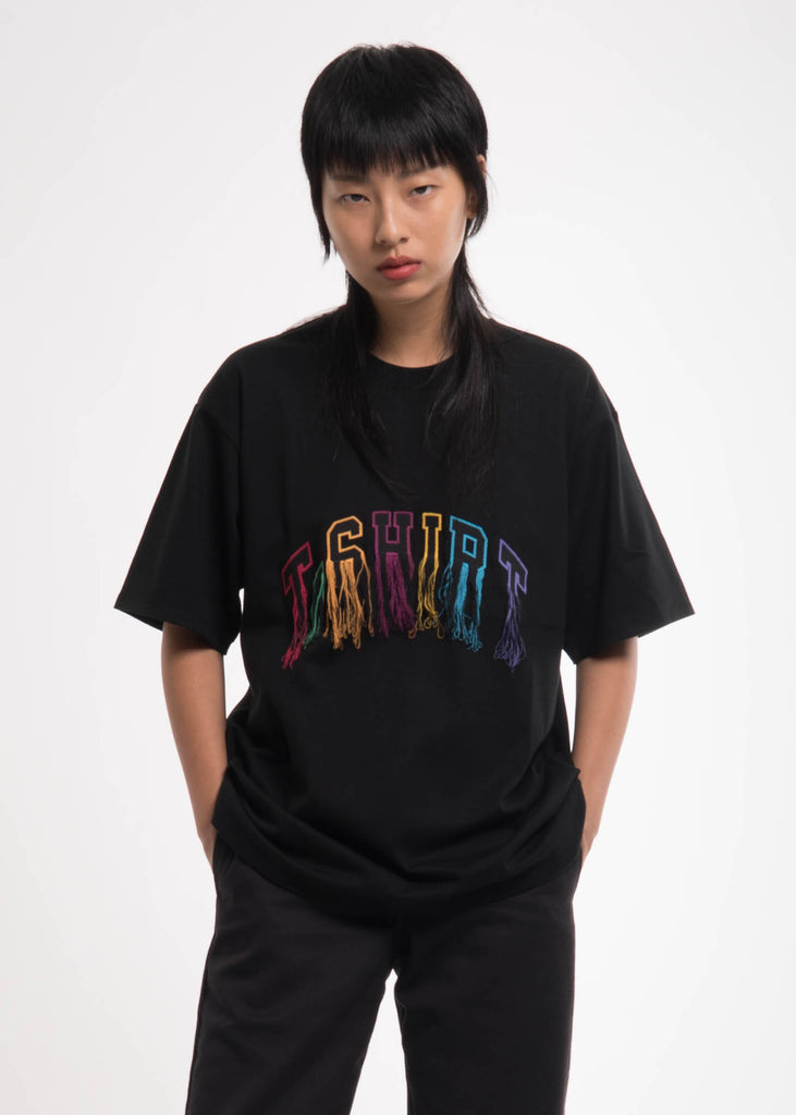Black Flying Embroidery T-Shirt