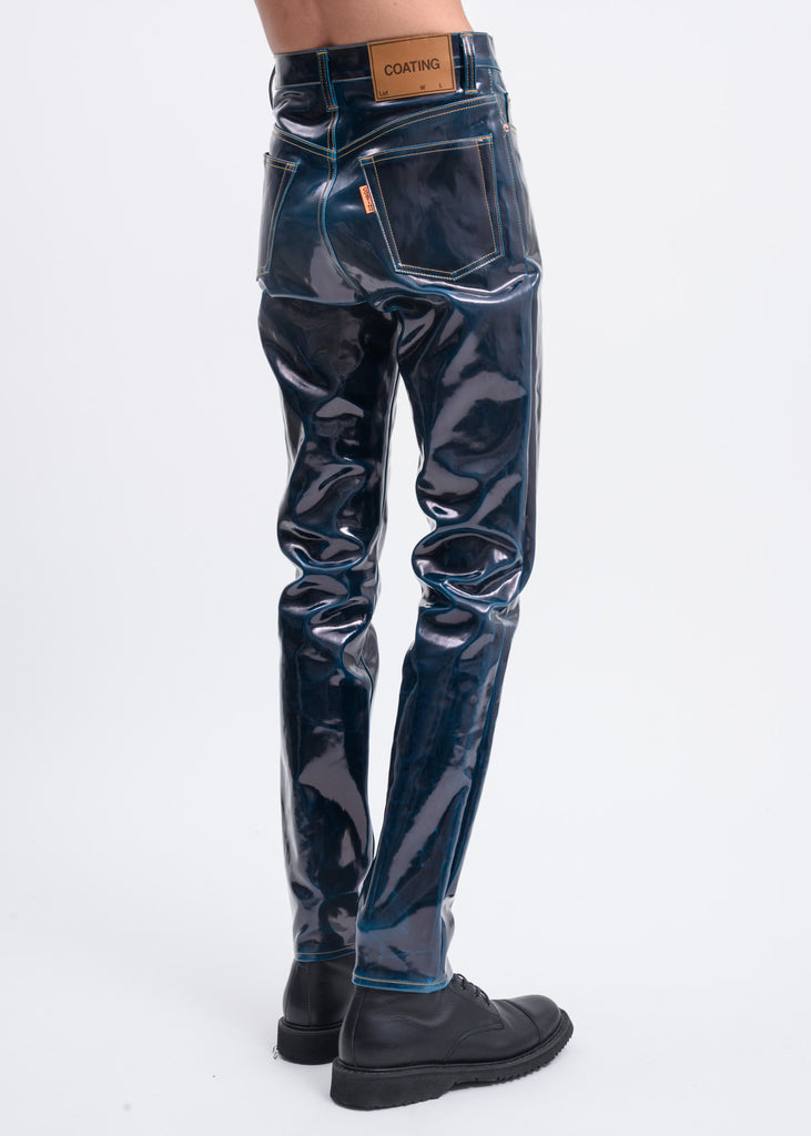 Blue Coating Denim Pants