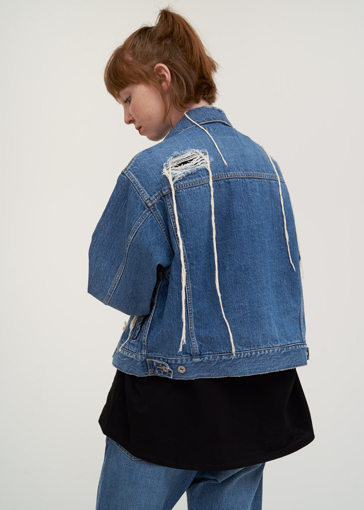Blue Too Much Damage Denim Jacket
