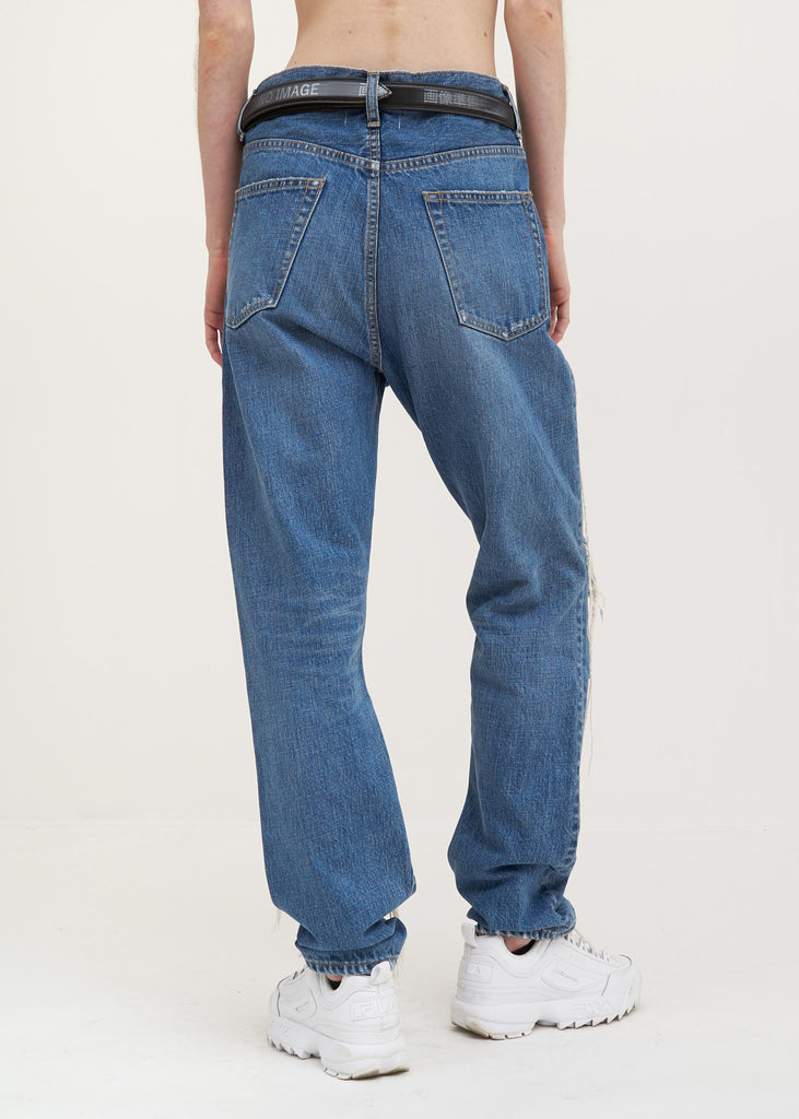 Blue Too Much Damage Denim Pants