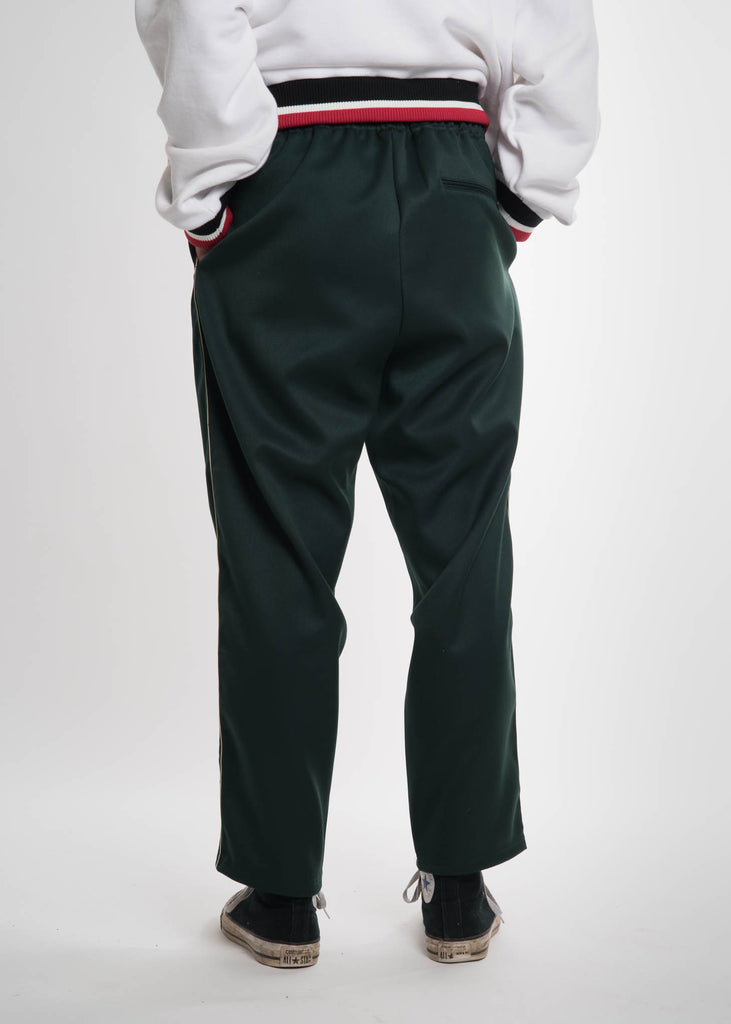 Dark Green Embroidery Track Pants